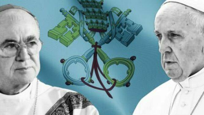 El Papa, Viganó y Burke al fondo
