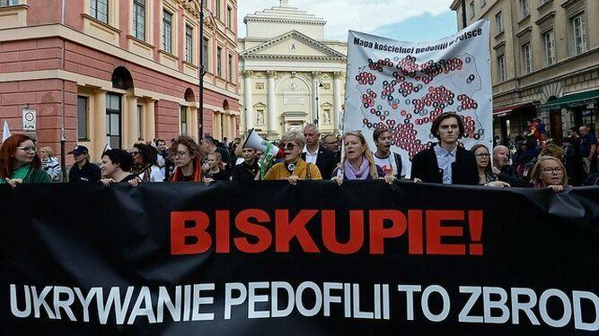 Manifestación contra los abusos en Polonia