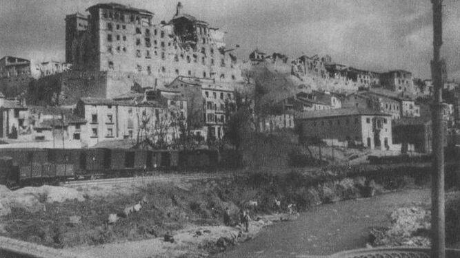 El Seminario de Teruel, en ruinas tras la Guerra Civil