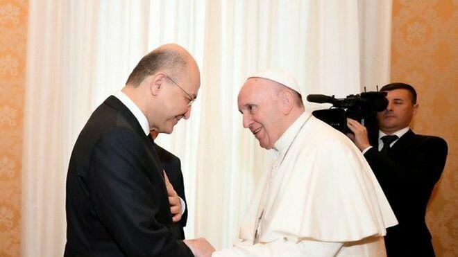 El Papa y el presidente de Irak