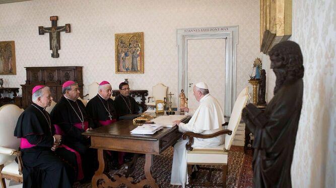 Francisco, con los obispos mexicanos