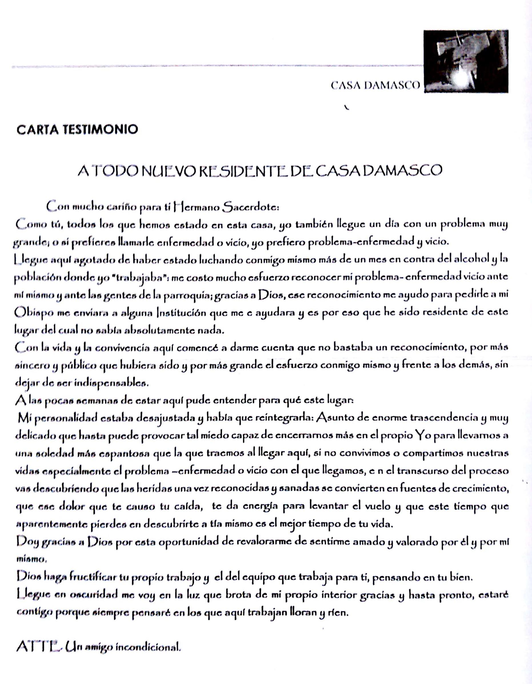 carta damasco