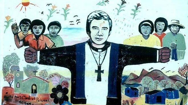 Mural en homenaje a Rutilio Grande en El Salvador