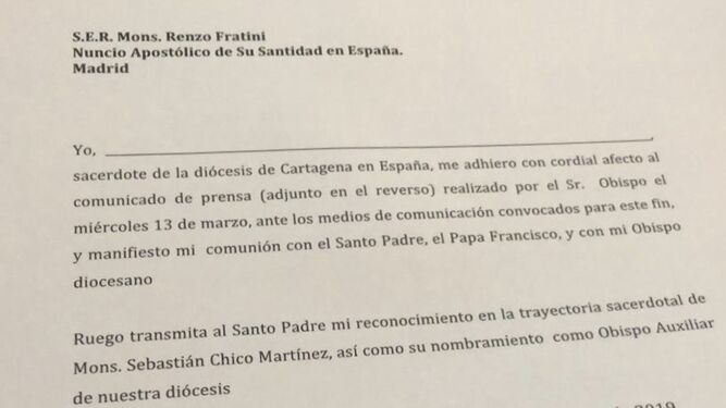Carta para los curas de Murcia