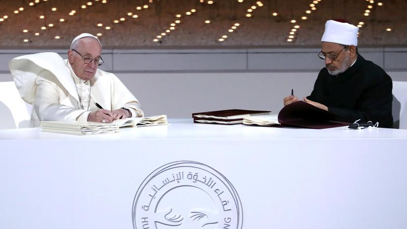 El papa y el gran imán Al-Azhar