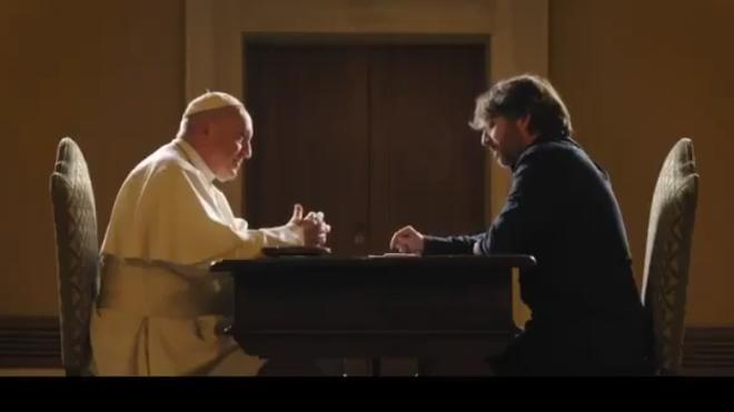 Jordi Évole, con el Papa Francisco