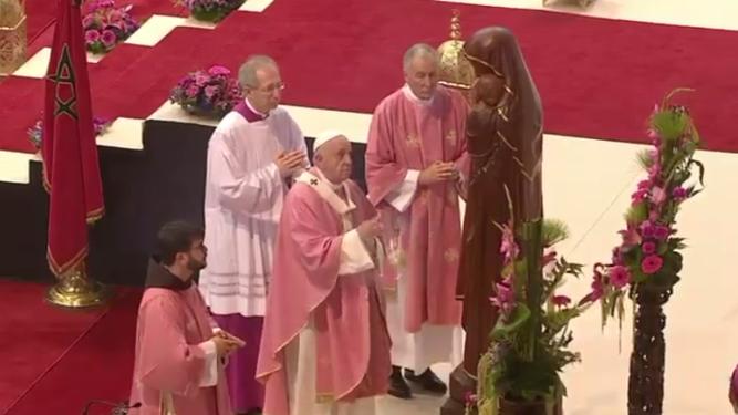 REl Pap ainciensa a la Virgen
