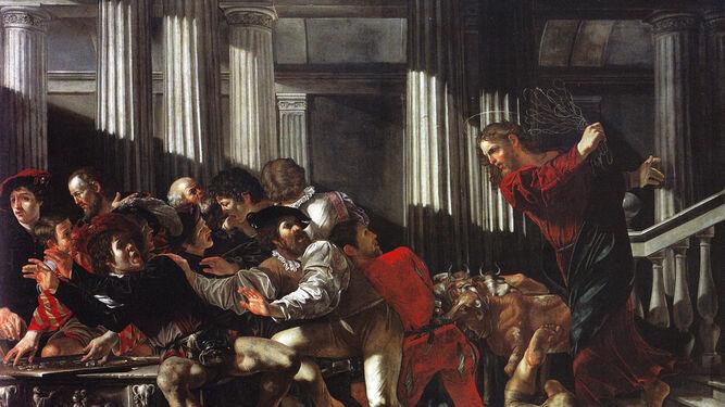 Caravaggio, expulsión de los mercaderes del templo