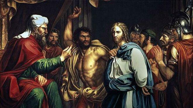 Jesús es apresado: Jesús en casa de Anás, sumo sacerdote judío junto con Caifás