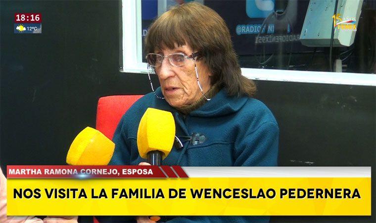 Martha Ramona Cornejo, viuda de Wenceslao Pedernera