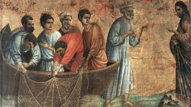 Jesús con los discípulos