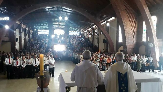 Moronta, en la iglesia atacada por el régimen