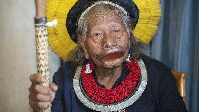 Raoni, líder indígena de la Amazonía