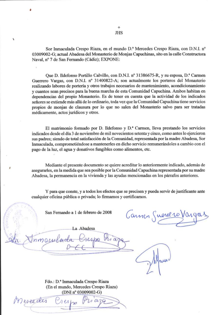 Carta de la abadesa