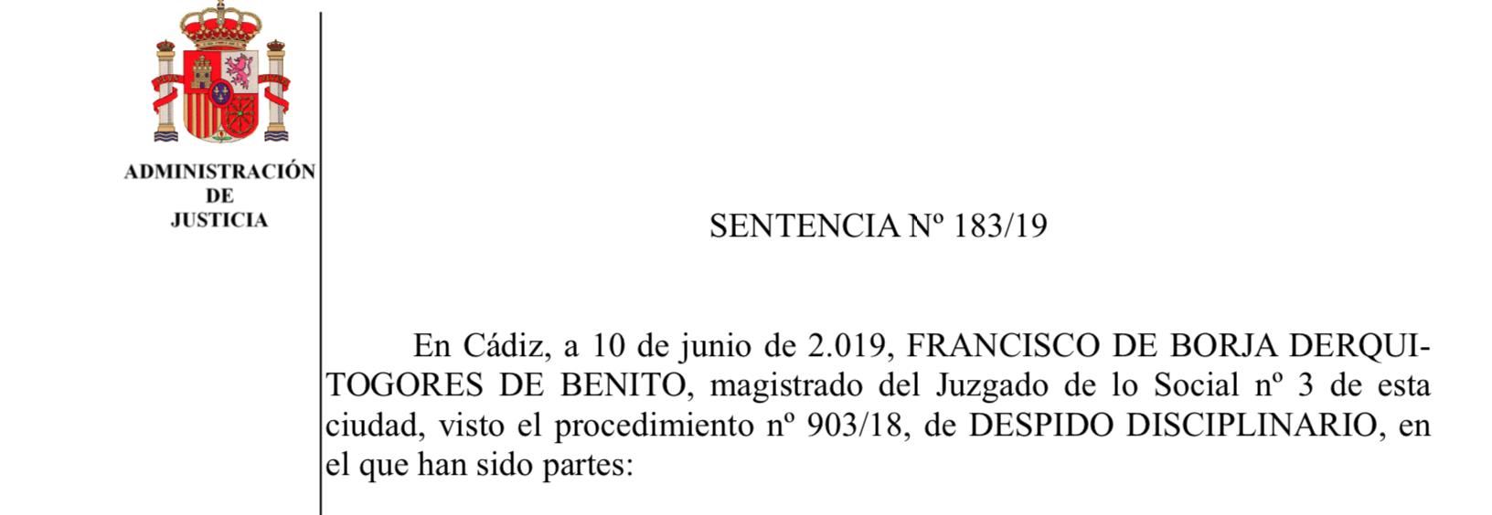 Sentencia contra obispado de Cádiz
