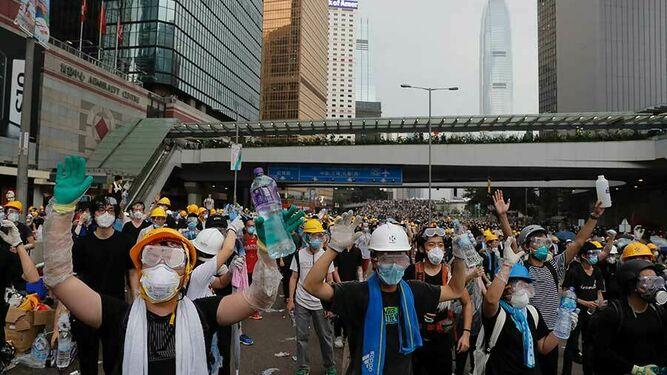 Protesta en Hong Kong por la ley de extradición a China