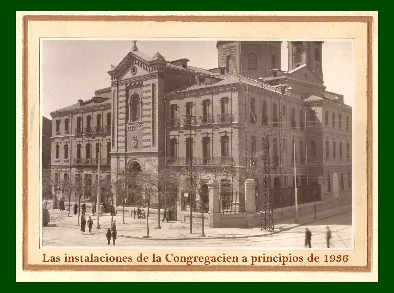 Las instalaciones antes de su quema en 1936