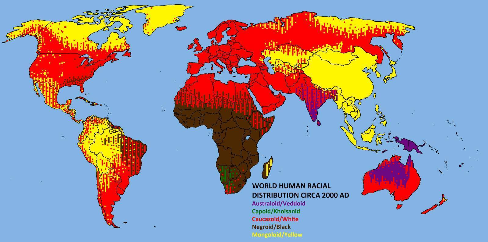 Mapa de razas humanas