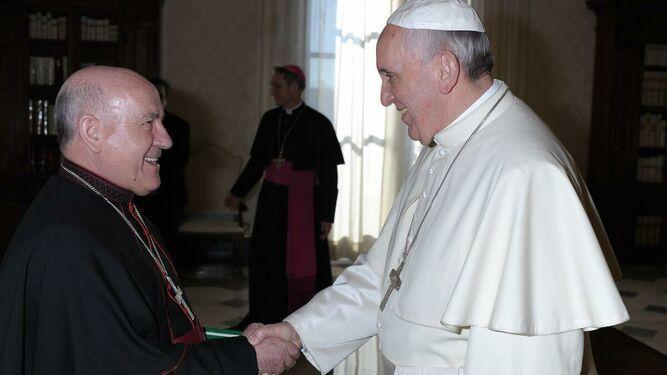 El Arzobispo de Zaragoza y el Papa Francisco