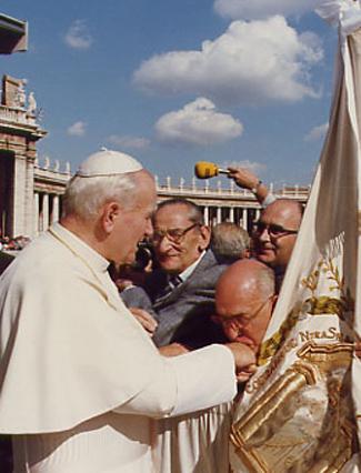 Joaquin Jimenez y Juan Pablo II