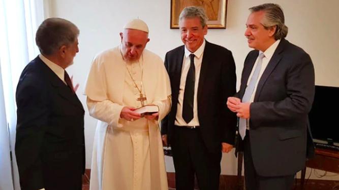 Alberto Fernández, con el Papa Francisco