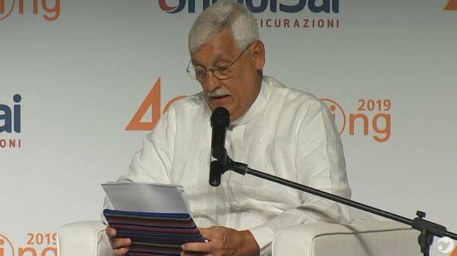 Arturo Sosa, sj., durante el meeting de Rimini