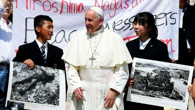 El Papa, con jóvenes de Hiroshima y Nagasaki