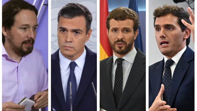 Líderes políticos españoles