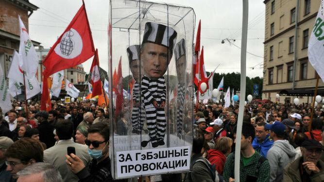 Protesta contra el presidente ruso Vladimir Putin