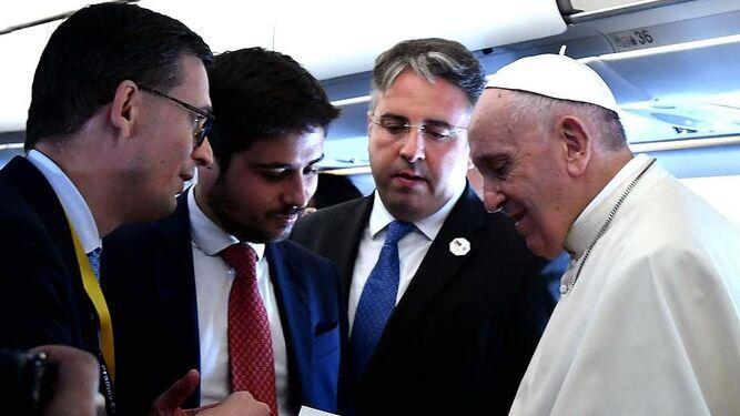 Senèze (i), con el Papa
