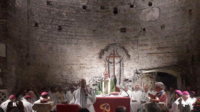 Eucaristia na catacumba de Santa Domitila