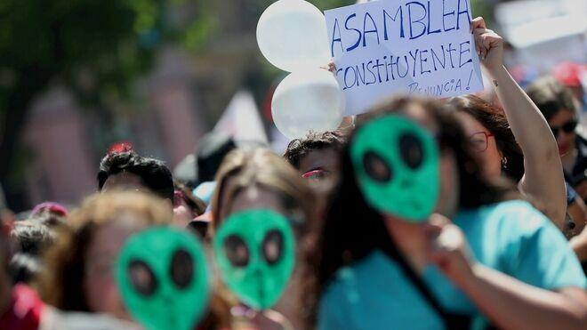 Protesta pacífica en Chile