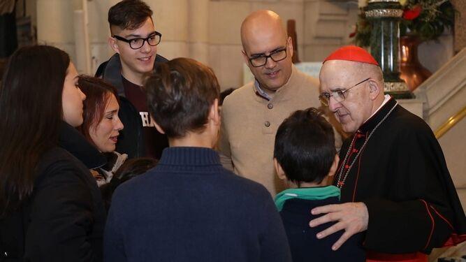 El cardenal Osoro en la Jornada de la Sagrada Familia, el pasado domingo
