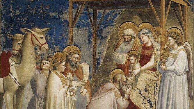 Adoración de los Reyes Magos, de Giotto