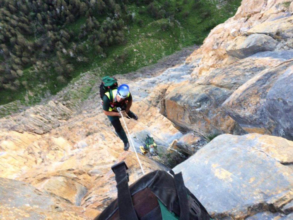 Rescate de un escalador