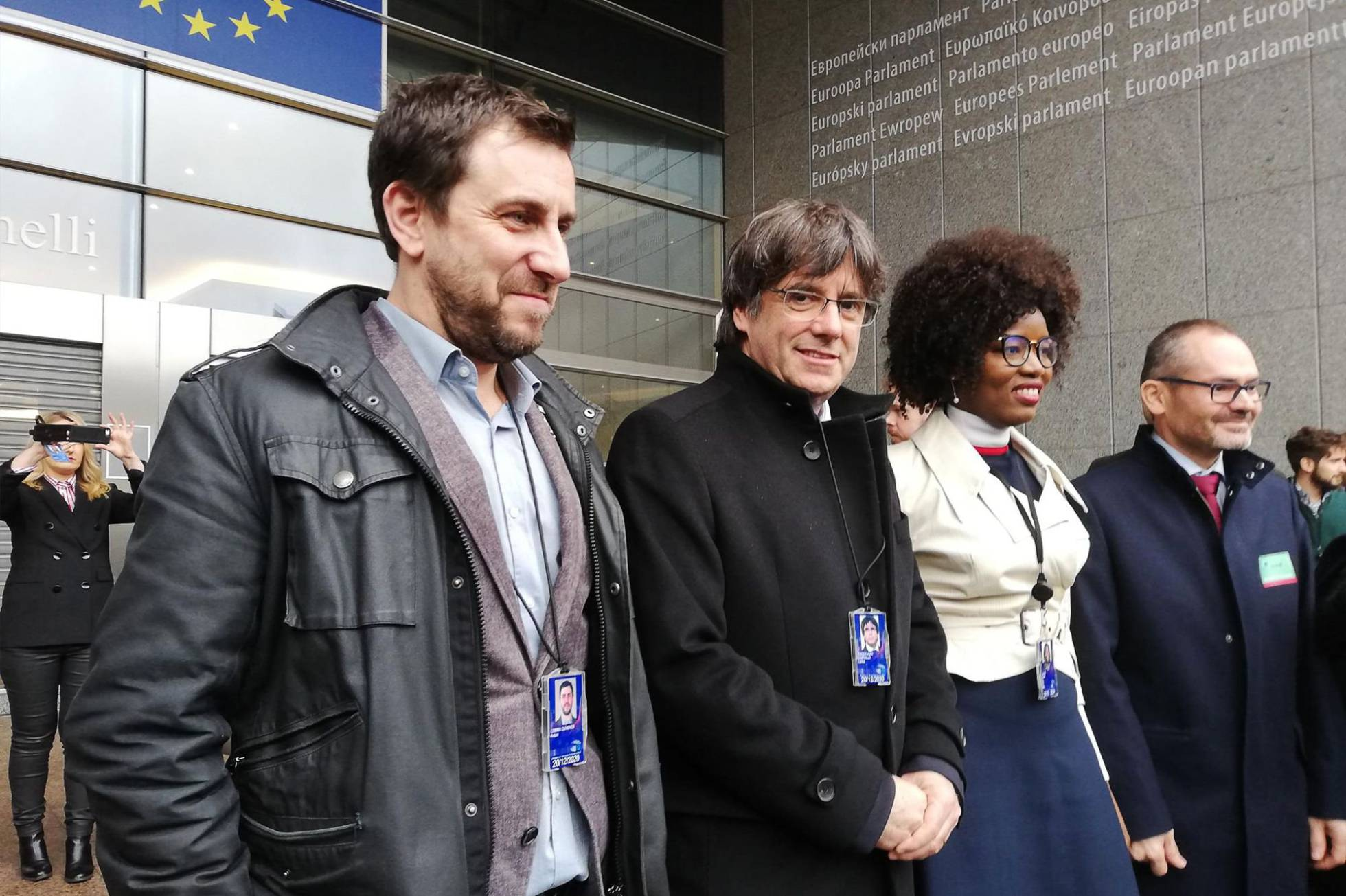 Puigdemont y Comín EuroParlamento