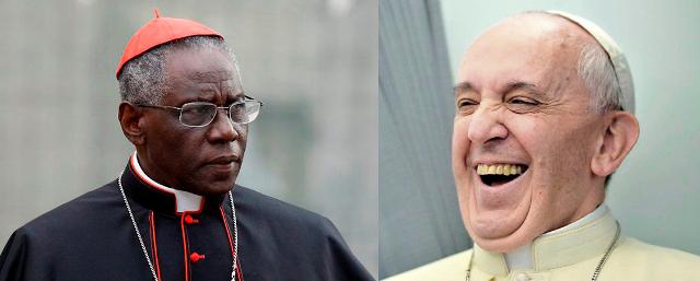 El papa Francisco y el cardenal Sarah