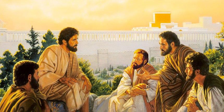 Jesús enseña a sus discípulos