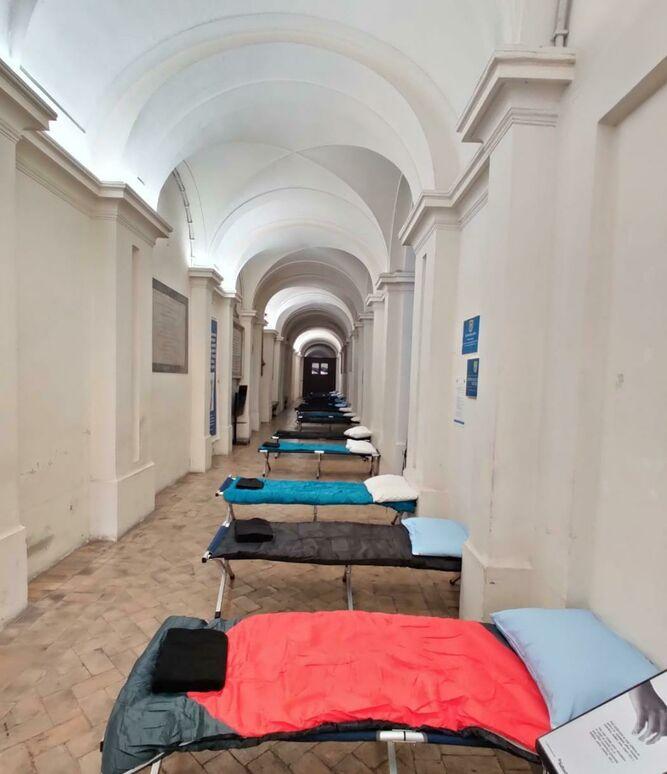 Los dormitorios en la iglesia de Mensajeros de Roma