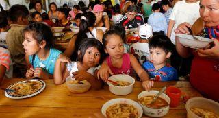 Comedores sociales para niños pobres
