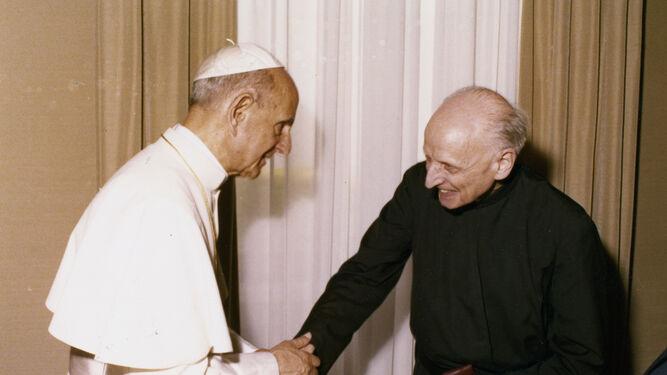 """Con Pablo VI. """"Me queria como un abuelo"""" (P.Arrupe)"""