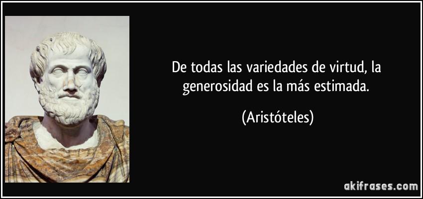 La generosidad según Aristóteles