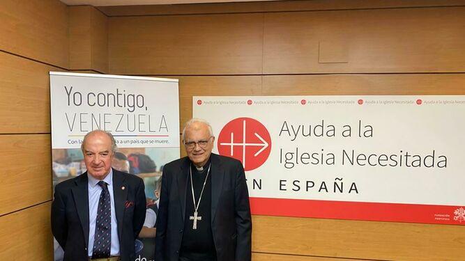 El cardenal Porras, con el presidente de AIN