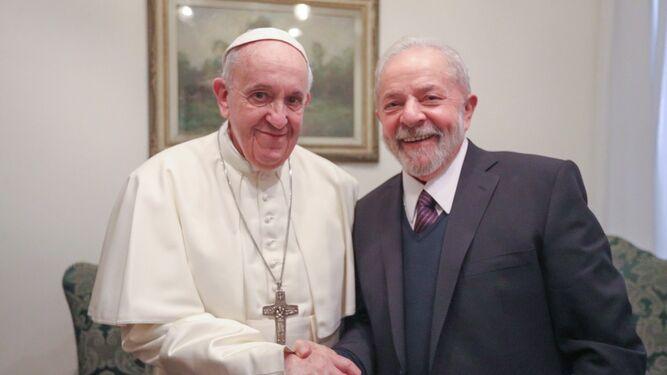 Francisco, con Lula da Silva