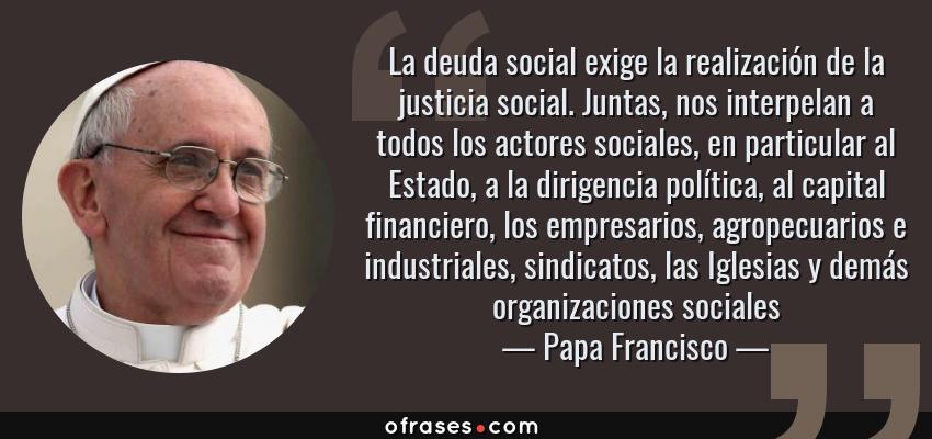Actores de la justicia social