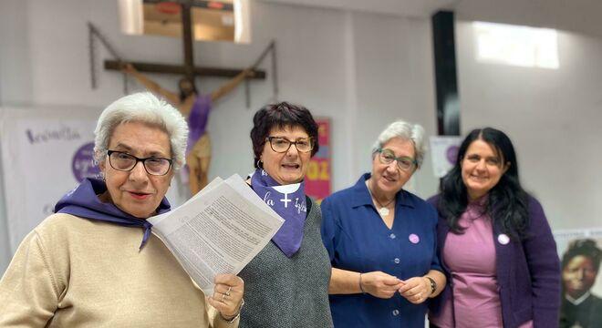 Concentración de mujeres por la igualdad en la Iglesia