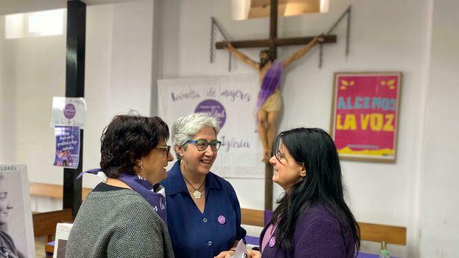 Pepa Torres, MariFe y Cristina, en San Carlos Borromeo