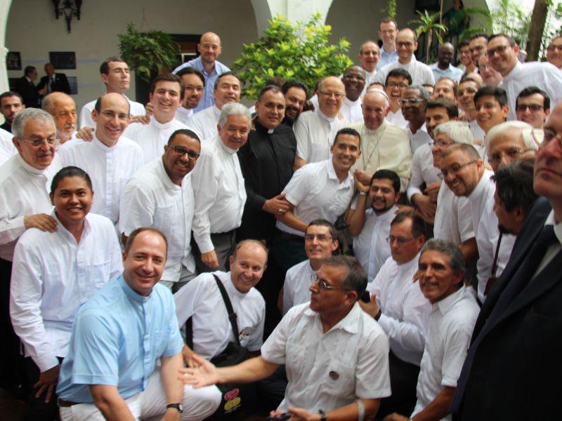Encuentro del papa con los jesuitas