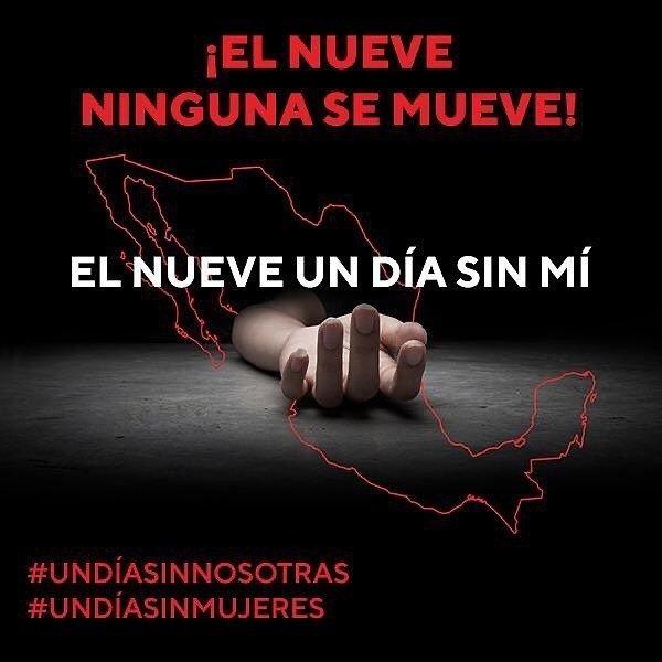 9 de marzo, huelga general de muejres en México