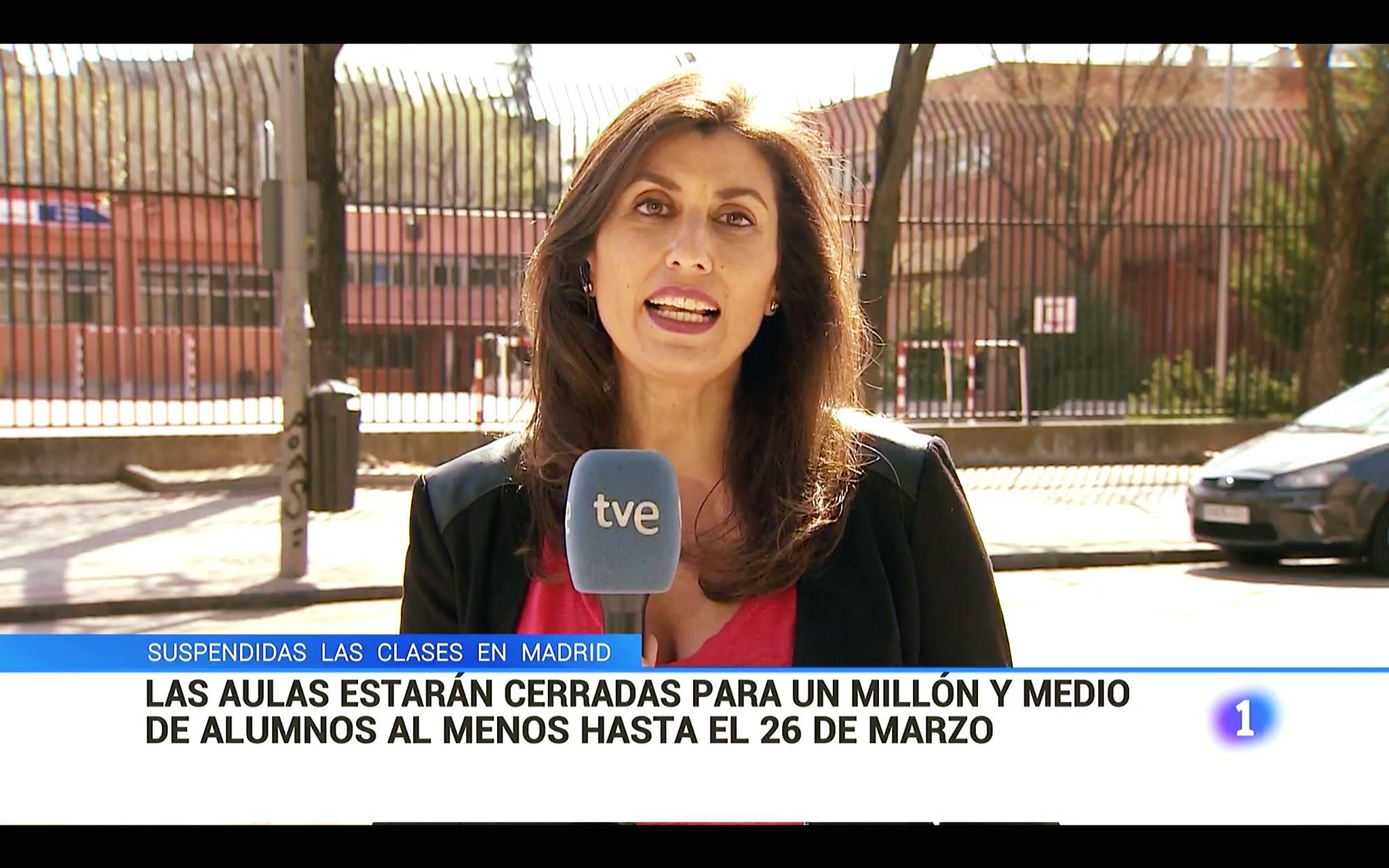 Las aulas cerradas en Madrid
